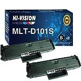 2-Pack HI-Vision Compatible Samsung MLT-D101S MLTD101S 101S Toner Cartridge Replacement for SCX-3405F SCX-3405W SCX-3405FW ML-2165W ML-2160 ML-2161 ML-2166w SCX-3400F SCX-3400FW Printer (Black)