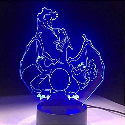 Pokemon Lamp Vorm 16 Kleuren Veranderen Nachtlampje 3D Tafel Licht Tafel LED Lamp Home Decor Gift