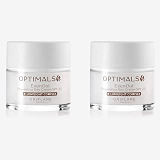 Oriflame OPTIMALS Even Out Preventing Day Cream SPF 20 50 ml pack of 2