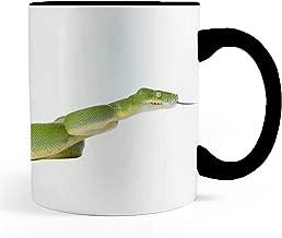 Neurotic Sphynx Green Tree Python Snake Wrap Around Cup! - Coffee and Tea Mug
