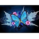 5D Kit de pintura de diamante con taladro completo de hoja de arce mariposa DIY Diamond...