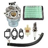Butom Carburetor with Gasket Spark Plug Fuel Air Filter kit for Honda GCV160 GCV160A GCV160LA HRB216 HRS216 HRR216 HRT216 HRZ216 Carb Lawn Mower