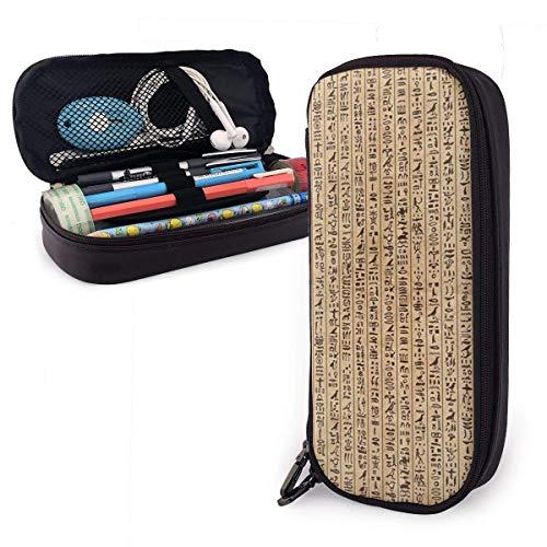 Scatola portapenne per penna in pelle per scrittura egiziana, custodia in pelle per ufficio scolastico
