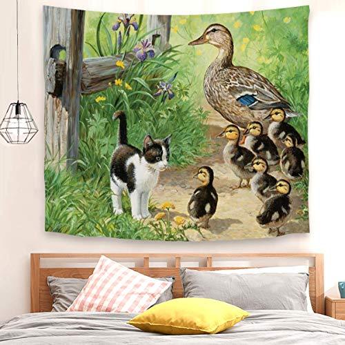 Tapiz de Inspector de pato para colgar en la pared, decoración del dormitorio (150 x 200 cm)