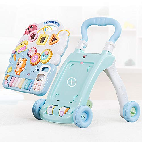 Review HANXIAODONG Baby Push Walker Girl&Boy Walker Toy Infant Baby Walker, Multi-Function Shape Col...