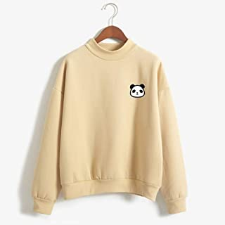Panda Women's Pullover Sweatshirt, Cute Striped Pullover, Long Sleeve Casual Jumper Tops Blouse, Clothes Teens Girls Boys