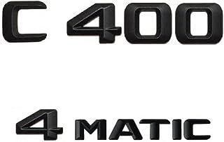 Stlei Store Zwart 3D ABS Plastic Car Trunk Achterletters Woorden Badge Embleem Decal Sticker Fit voor MERCEDES-BENZ C205 S...