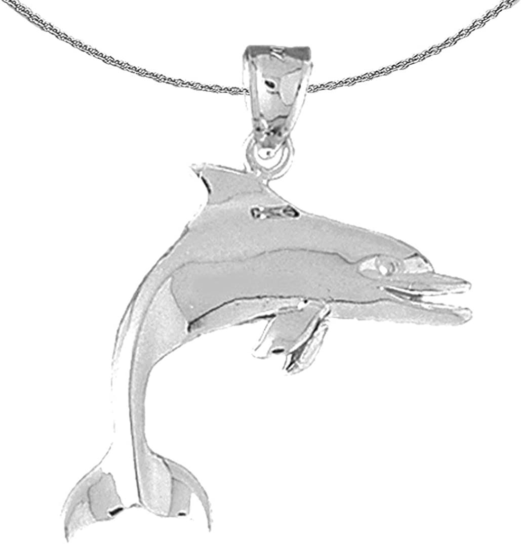 Jewels Obsession Gold Dolphin High quality new White Necklace 14K Max 71% OFF