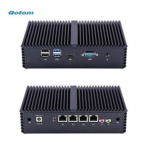 Qotom Barebone Mini PC Core i5-4300Y, 4 Intel Gigabit Interface with Serial Port, DIY Home Firewall Router