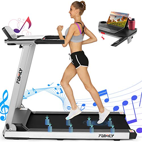 FUNMILY Folding Treadmill With Table Holder