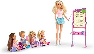 Simba - Steffi Love Maitresse d'Ecole - Poupée Mannequin 29cm - Tableau et Accessoires + 4 élèves - 105730472002