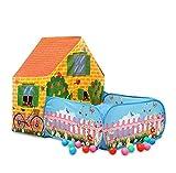 VAER Tiendas de campaña para niños, Pop Up Tienda de Juegos Plegable con Casita Infantil, Tunel Infantil, Piscina de Bolas