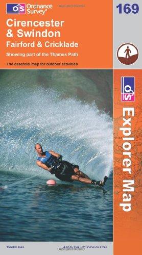 OS Explorer map 169 : Cirencester & Swindon