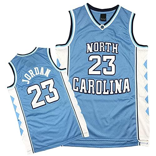 QiuiuQ Michael Jordan 23# North Carolina Camisetas De Baloncesto para Hombres,Basketball Jersey De Secado Rápido Transpirable De Los Chicago Bulls,Camisetas De Malla Bord Blue-XL