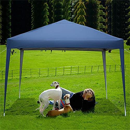 Tienda de campaña de 3 x 3 m, impermeable, en ángulo derecho, plegable, para camping, carport, carguera, tienda de campaña para exteriores, bodas, jardín, barbacoa, eventos comerciales, fiesta (azul)