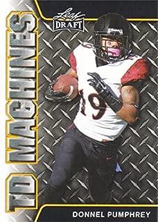 Donnel Pumphrey Football Card (San Diego State, Philadelphia Eagles) 2017 Leaf Draft TD Machines GOLD #TD09 Rookie