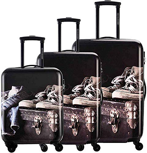 Suitcase ABS Material Jeans Hard Shell 75 cm Trolley cart,A