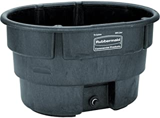 Rubbermaid Commercial Fg424288Bla Structural Foam Stock Tank, 100 Gallon Capacity, 53
