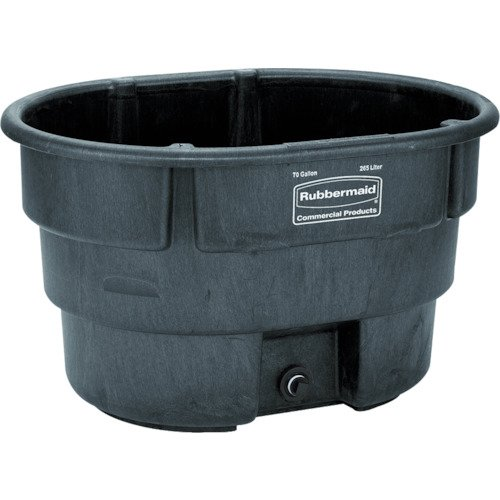 Rubbermaid Commercial Fg424288Bla Structural Foam Stock Tank, 100 Gallon Capacity, 53' Length X 25' Height, Black