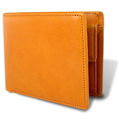栃木レザー 財布 メンズ 二つ折り財布 マチ付き 本革 日本製 革製コースター付き 札入れ 多収納 TGS-5533 (camel)