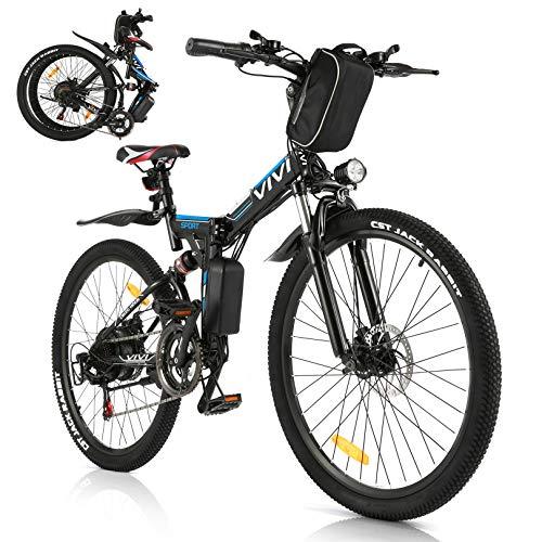 Vivi Bicicleta Eléctrica Plegable, 350 W Motor...