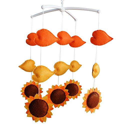 Décoration de pépinière de cadeau de jouet mobile de lit de bébé fait main pour 0-2 ans, MQ12