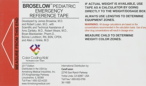 Broselow Pediatric Emergency Tape 2017