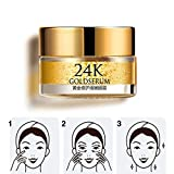 Ofanyia 24K Gold Eye Serum Cream Anti Aging Remove Dark Circles and Eye Bags Anti Puffiness Anti Wrinkles Eye Cream