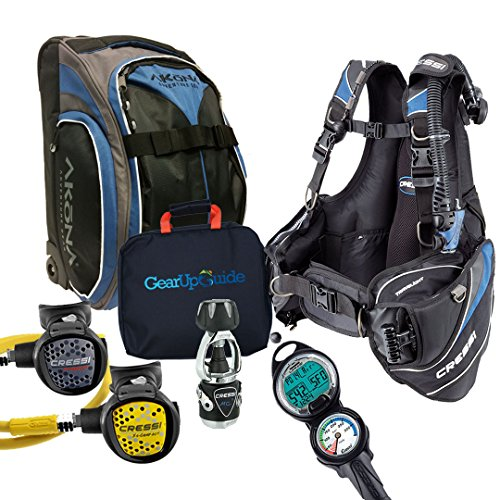 Cressi Travelight 15 LBS Scuba Diving Package