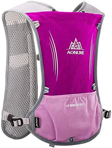 Fietsen Veiligheid Vesten Sport Reflecterende Vest Safety Gear Met Pocket met reflecterende hoge zichtbaarheid for Lopen Fietsen kleding for vrouwen mannen XMJ (Color : Rose Red)