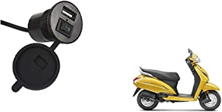 Autoladders Fast Mobile USB Charger with Socket for Honda Activa 5G