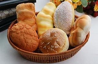 おいしそう! ふっくら パンの 食品サンプル 6個 籐カゴ入り (Aセット)