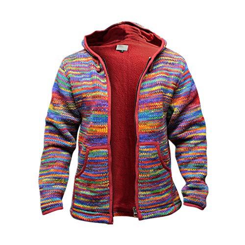 N\P Retro Hombres Camuflaje Cardigan Suéter Color Mezcla Otoño Invierno Casual Suelto con Capucha Suéter de Punto