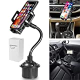 Bysionics Car Phone Mount, Cup Car Phone Holder,360 Degree [Adjustable Distance] Cell Phone Holder Compatible with iPhone Xs/XS MAX/XR/X/8/8Plus/7/7Plus, Galaxy S7/S8/S9, and More (Black)