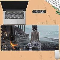 素敵なマウスパッド特大アイスプリンセスゴーストナイフ風チャイムプリンセスアニメーション肥厚ロック男性と女性のキーボードパッドノートブックオフィスコンピュータのデスクマット、Size :400 * 900 * 3ミリメートル-HW-227