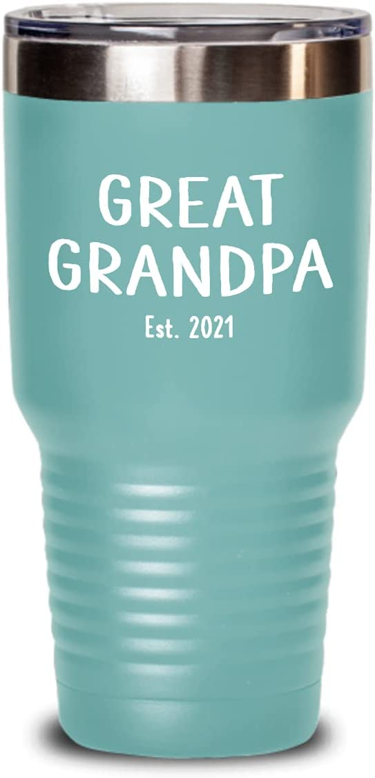 """Great Grandpa Max 58% OFF Tumbler """"New 20 Established 2021"""" Bombing new work or"""