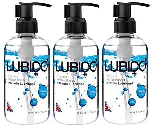 Lubido Gleitmittel für den Intimbereich ohne Parabene, 3 x 250 ml