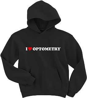Gildan I Love Optometry Hoodie Sweatshirt