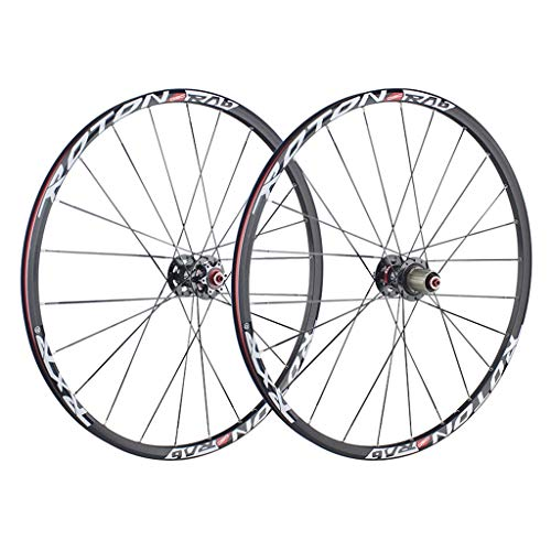 Zatnec 26/27,5 'Bicicletta Wheelset, Doppia Parete Quick Release V-Brake MTB Rim cuscinetti sigillati 24 fori 8/9/10 velocità (colore : A, Dimensioni: 27,5 cm)