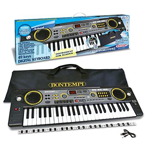 Bontempi Tastiera Digitale 15 4920 con 49 Tasti