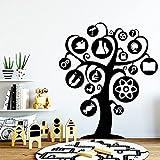 Árbol de dibujos animados pegatinas de pared habitación de los niños decoración de la sala de estar fondo de arte de la pared flores autoadhesivas otro color 42x49 cm