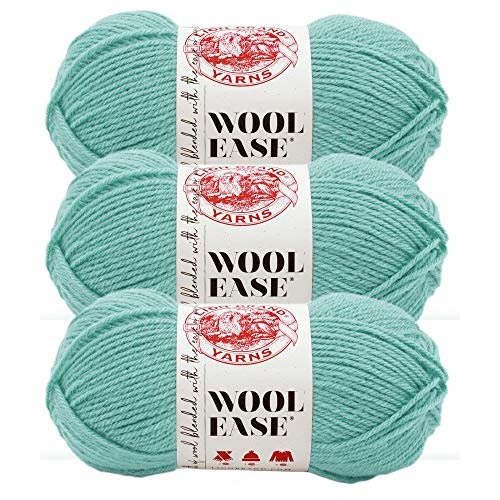(3 Pack) Lion Brand Yarn 620-119 Wool-Ease Yarn, Succulent