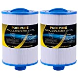 POOLPURE Replacement for Spa Filter PWW50P3(1 1/2' Coarse Thread), Unicel 6CH-940, 817-0050, Filbur FC-0359, 25252, 378902, 03FIL1400, 45 sq.ft Screw in Hot Tub Filter, 2 Pack
