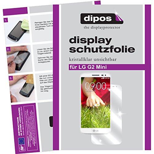 dipos I 2X Schutzfolie klar kompatibel mit LG G2 Mini Folie Bildschirmschutzfolie