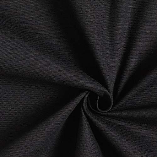 Dekostoff Canvas – schwarz — Meterware ab 0,5m — zum Nähen von Homeaccessoires, Kissen/Tagesdecken und Sitzgelegenheit