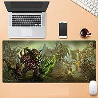 World of Warcraft特大ゲーム用キーボードマウスパッド ノンスリップ防水ジェルリストマット(World of Warcraft)-900X400X3MM-D_700*300*3MM