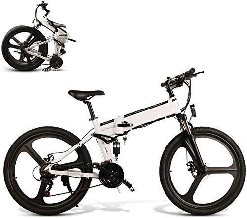 Bicicletta Elettrica, 26  Electric Bike Trekking   Touring Bike, Abbigliamento elegante pieghevole E-Bike 48V 10AH 350W del motore della bicicletta della montagna for gli uomini 21-Livello Maiusc Assi