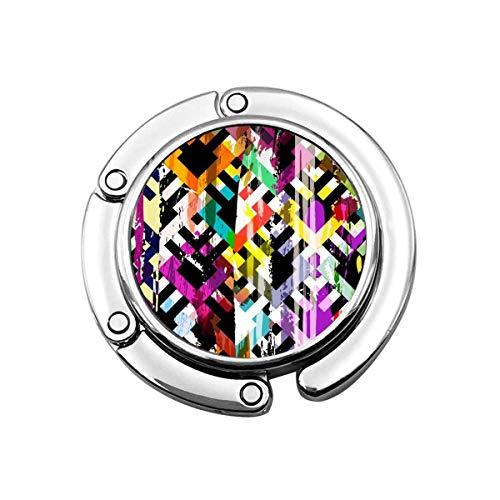 Gancho para Monedero Plegable Patrón de Mosaico geométrico Colorido Perchas para Bolsos...