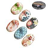 maxgoods 6er- Pack,Handgemalte Blumenmuster Keramik Essstäbchen Rest Rack,Japanischen Stil...