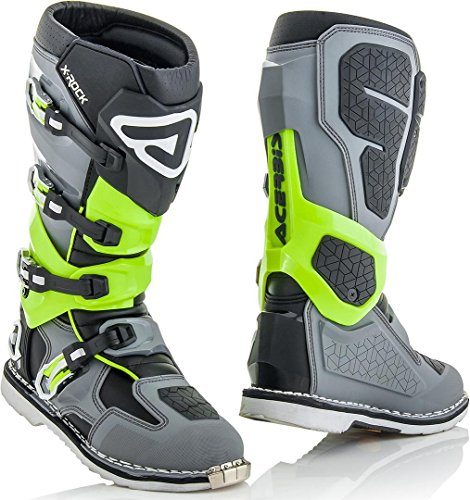 Stiefel X-Rock Grau/Neongrün T.41